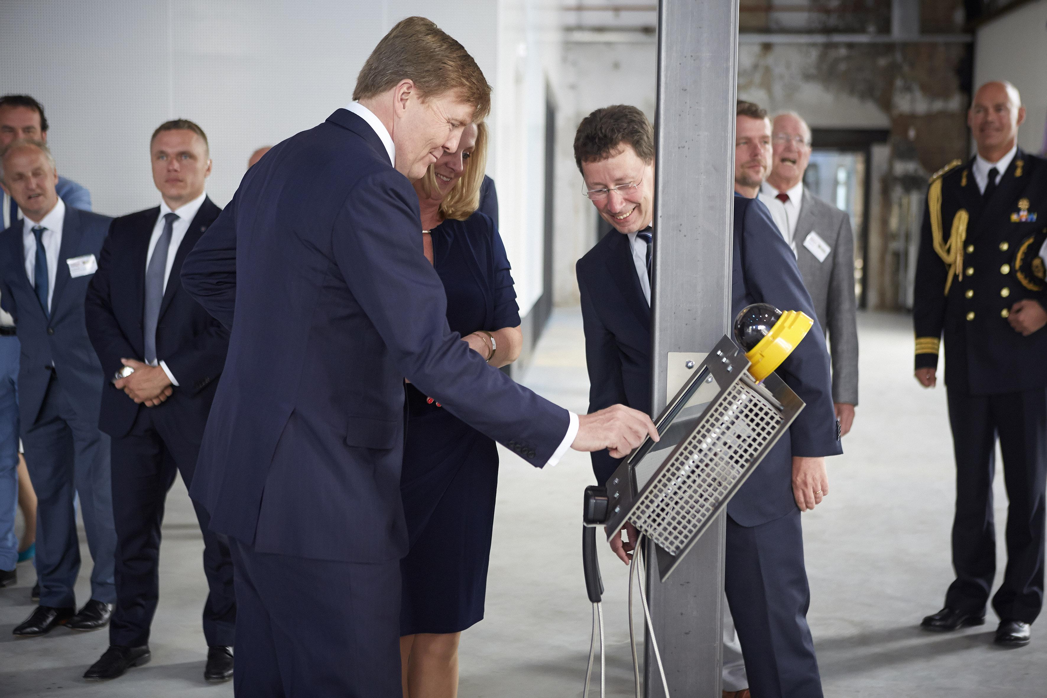 Koning Willem Alexander bij ICER